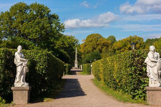 The photo shows autumn landscape.