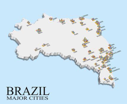 Brazil city population map