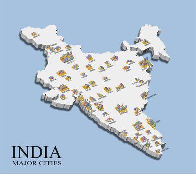 India city population map