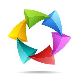 Colorful arrows in a loop