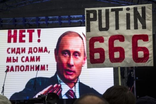 MOSCOW - 2015 ELECTIONS - OPPOSITION PROTEST