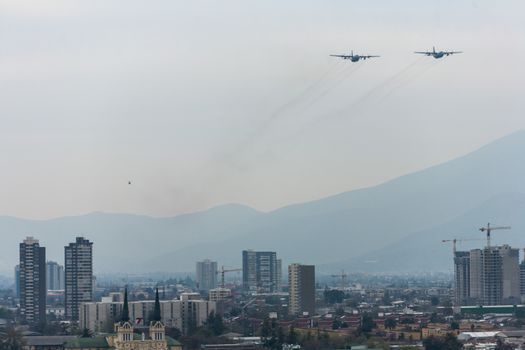CHILE - AIR FORCE - FORMATION FLYPAST