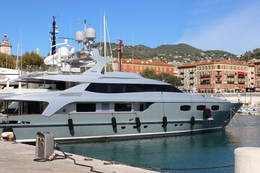 eautiful and luxurious yacht in the port of Nice