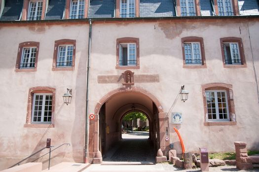 Alsace summer vacation on Mont st Odile mountain