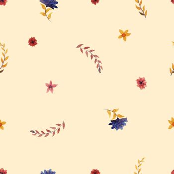 flowers watercolor of floral rose seamless pattern