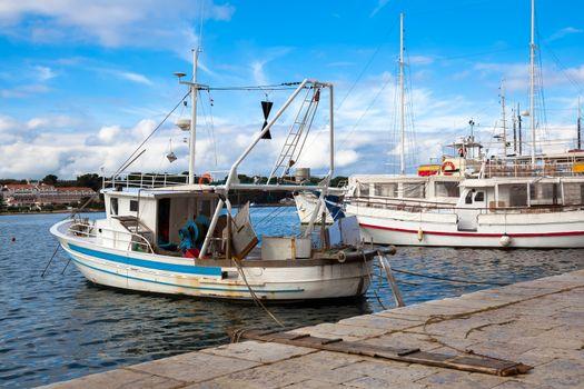 Fishing boat in harbor