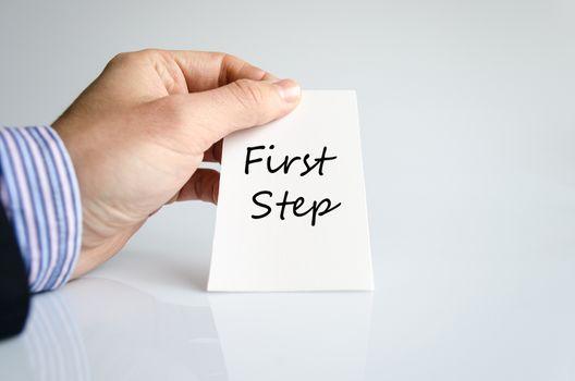 First step text concept