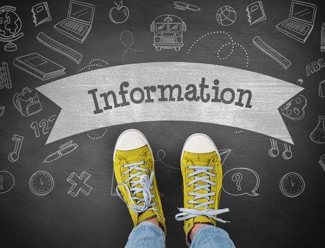 Information against black background