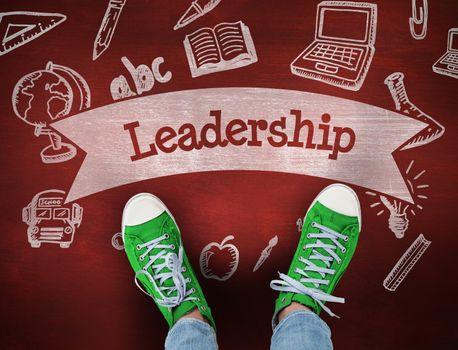 Leadership against desk