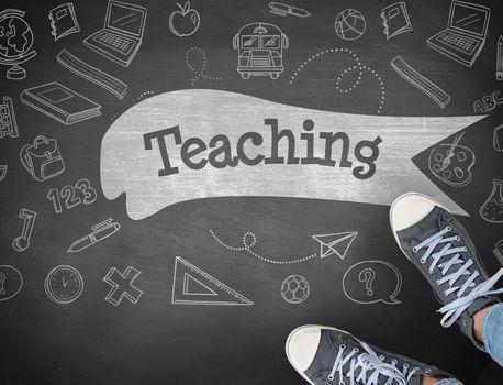 Teaching against black background