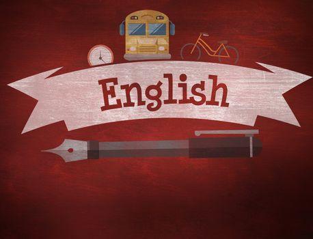 English against desk