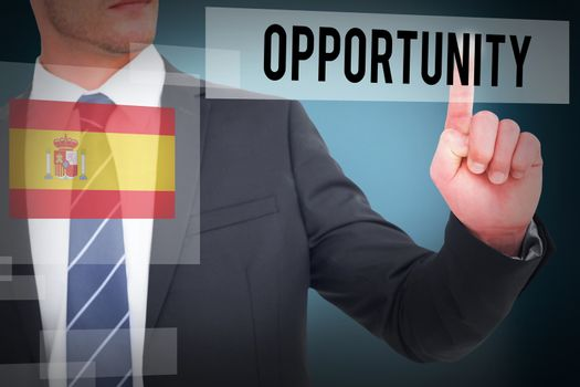 Opportunity against blue background