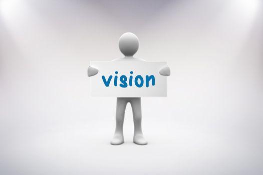 Vision against grey background