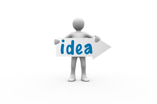 Idea against white background with vignette
