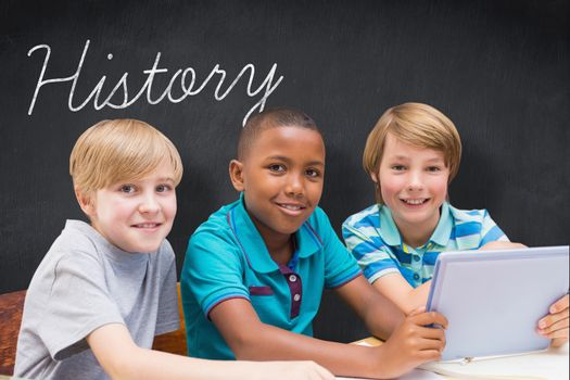 History against blackboard