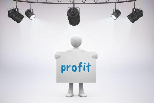 Profit against grey background