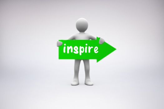 Inspire against grey background