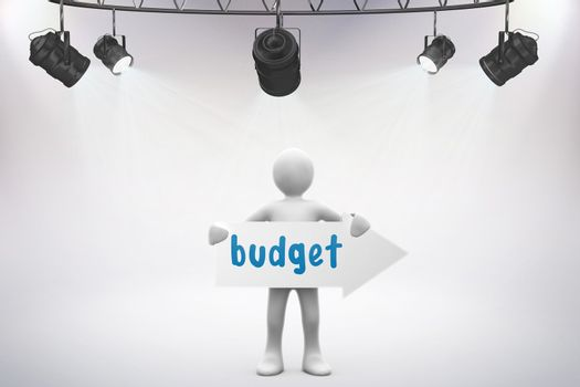 Budget against grey background