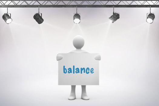 Balance against grey background