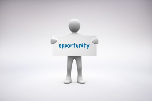 Opportunity  against grey background