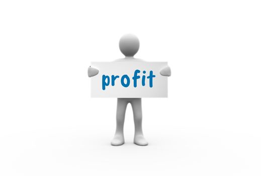 Profit against white background with vignette