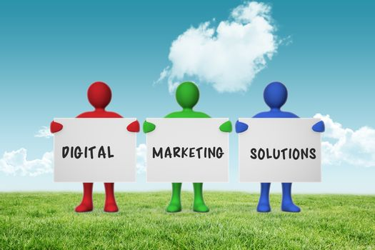 Composite image of digital marketing solutions