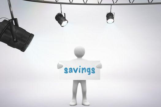 Savings against grey background