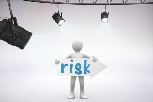 Risk against grey background