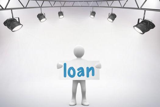 Loan against grey background