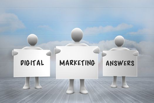 Composite image of digital marketing answers