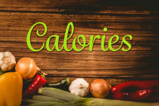 Composite image of calories
