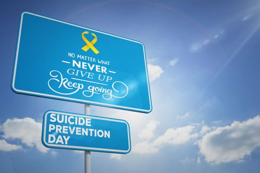 Composite image of suicide prevention day message