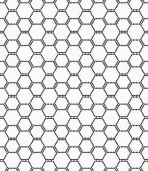 Flat gray with hexagonal bee grid