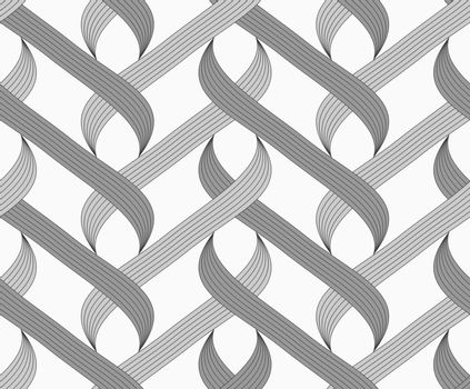 Flat gray with shaded overlapping integrals