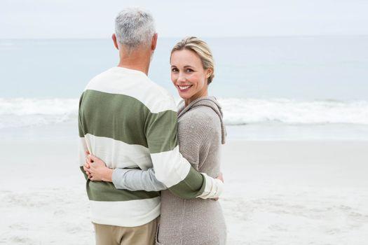 Woman hugging her partner