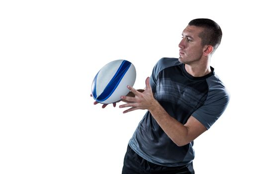 Sports player catching the ball