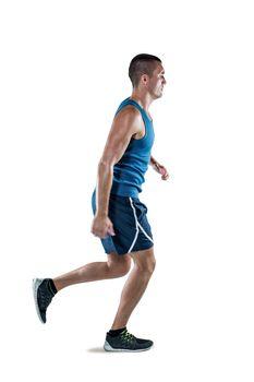 Man in sportswear jogging