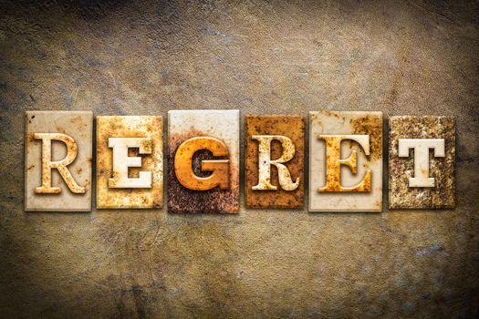 Regret Concept Letterpress Leather Theme