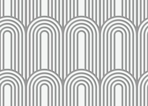 Perforated paper with arks on continues stripes