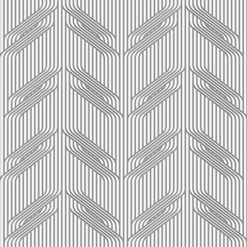 Perforated paper with branches on continues lines