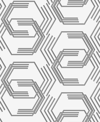 Perforated paper with broken hexagons