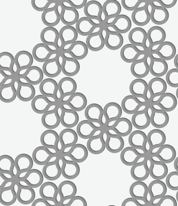 Perforated paper with floral reticulated tile