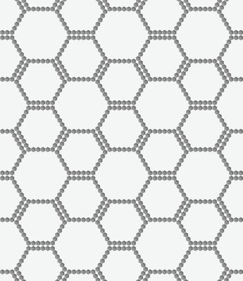 Perforated paper with hexagons forming bee grid