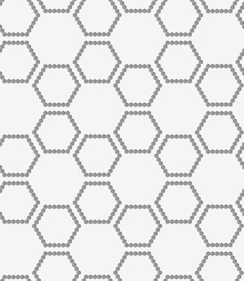Perforated paper with hexagons forming grid