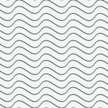 Perforated paper with horizontal thin waves