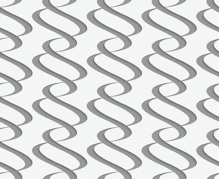 Perforated paper with vertical integrals