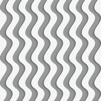 Perforated paper with vertical thick waves