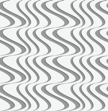 Perforated paper with vertical uneven waves