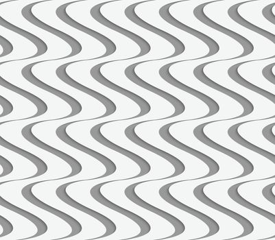 Perforated paper with vertical waves