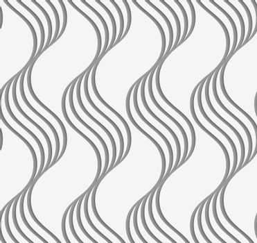 Perforated paper with vertical wavy stripes